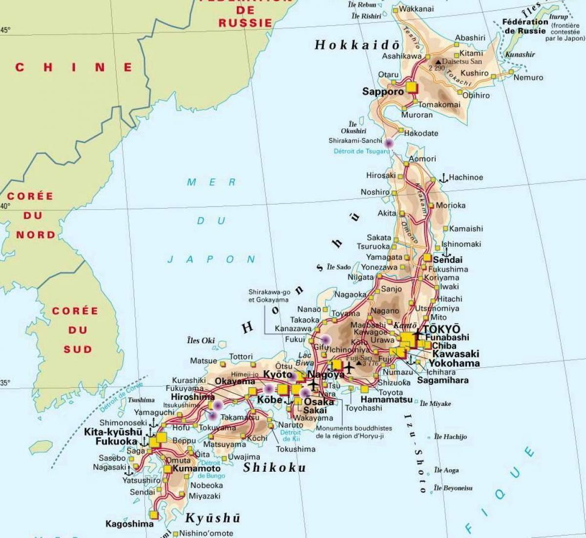 Cartina Del Giappone Politica.Citta Del Giappone Mappa Giappone Mappa Della Citta Asia Orientale Asia