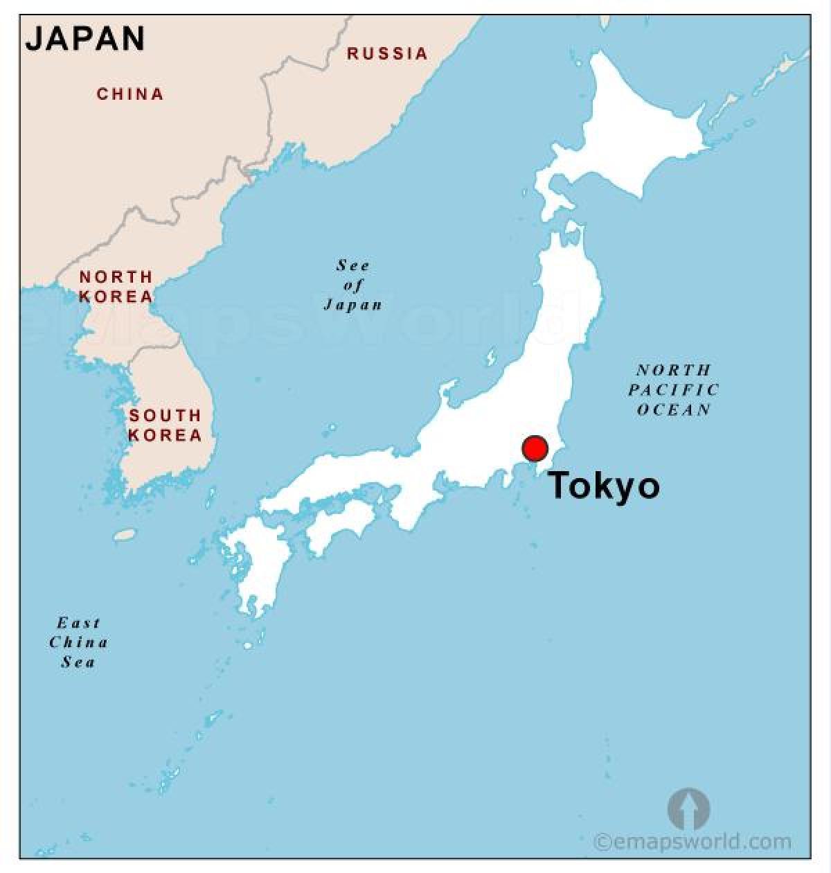 Cartina Giappone In Italiano.Giappone Capitale Mappa Capitale Del Giappone Mappa Asia Orientale Asia