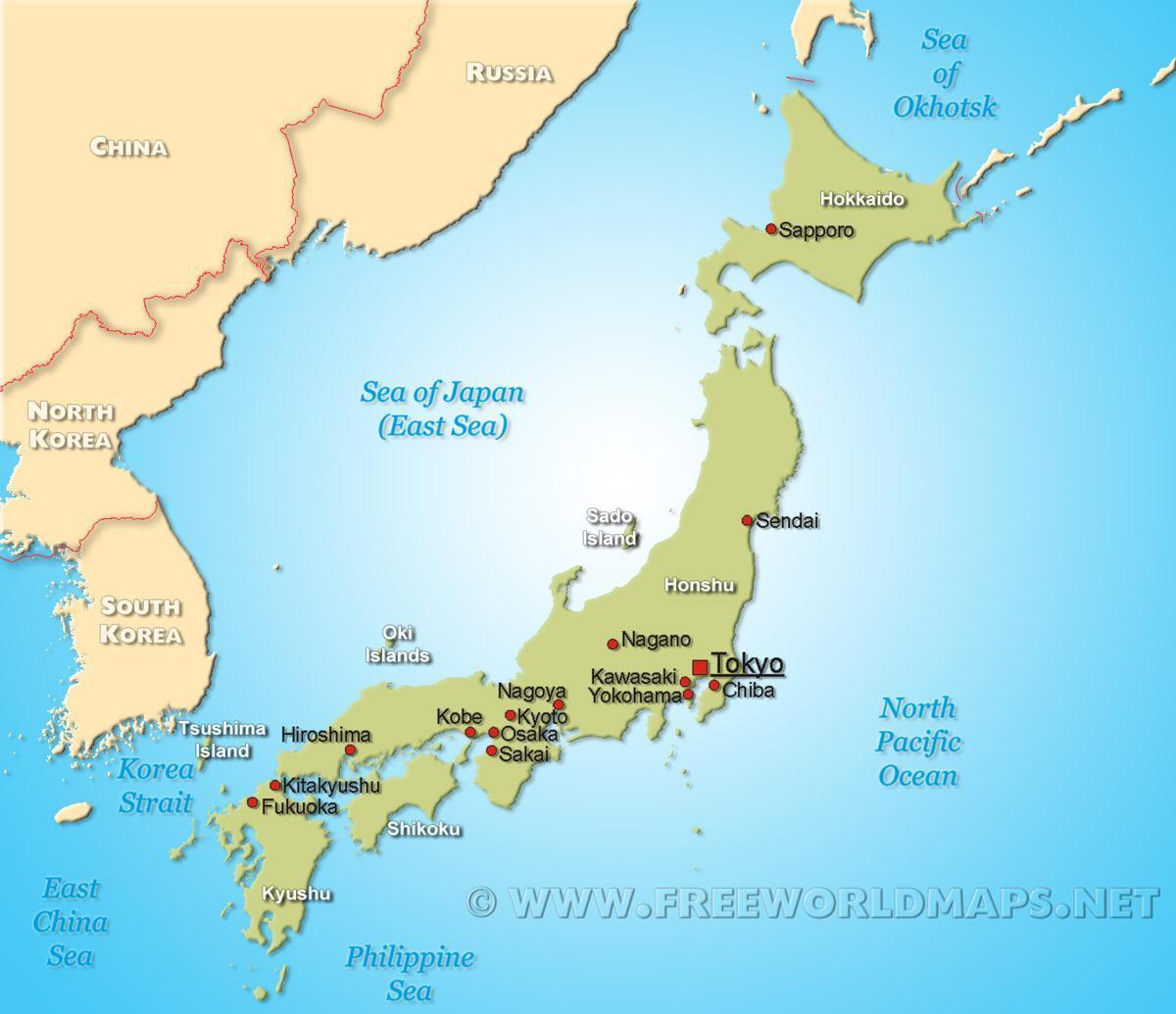 Cartina Del Giappone Politica.Mappa Di Giappone Giappone Sulla Mappa Asia Orientale Asia