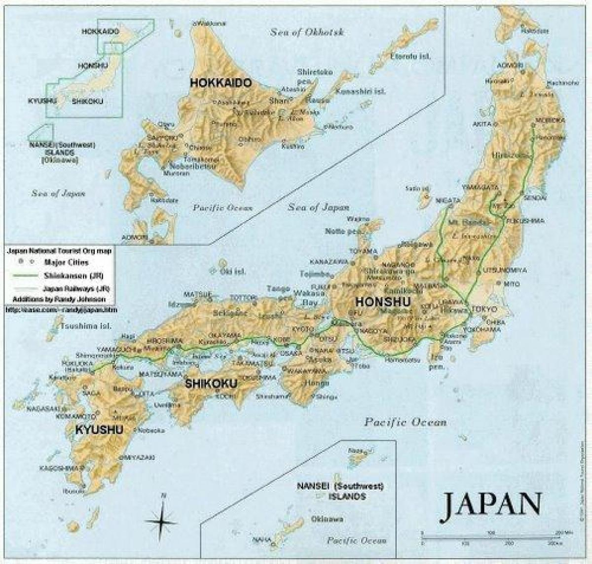 Cartina Dettagliata Giappone.Mappa Dettagliata Del Giappone Il Giappone Mappa Dettagliata Asia Orientale Asia