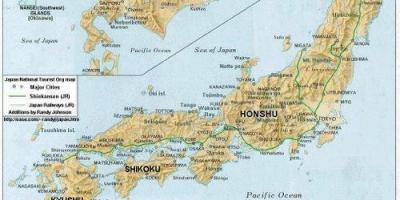 Cartina Dettagliata Giappone.Giappone Mappa Mappe Giappone Asia Orientale Asia